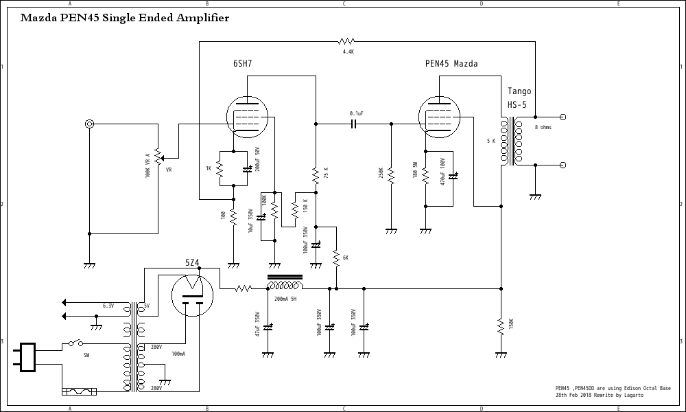 PEN45 Single Ended Amplifier