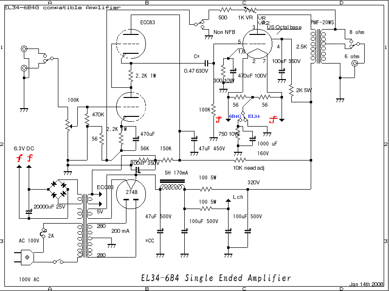 6550 on diagram for guitar tube schematic