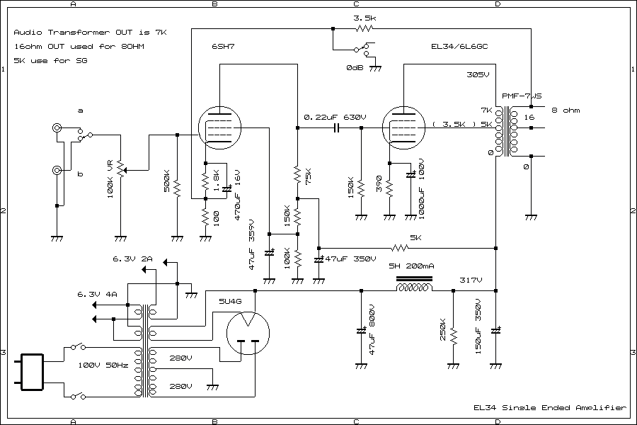 6L6GC UL Single Ended Amplifier
