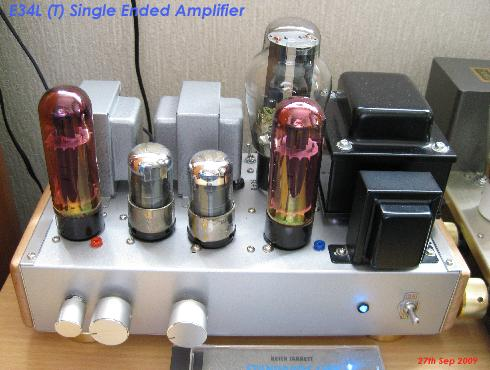 E34L single ended triode mode