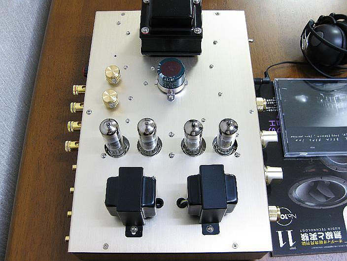 side view ECL82 PP amplifier
