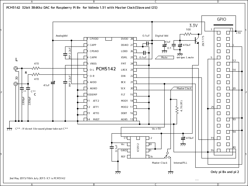 circuit diagram Master clock....