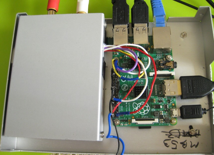 inside 2 of Raspberry pi DAC
